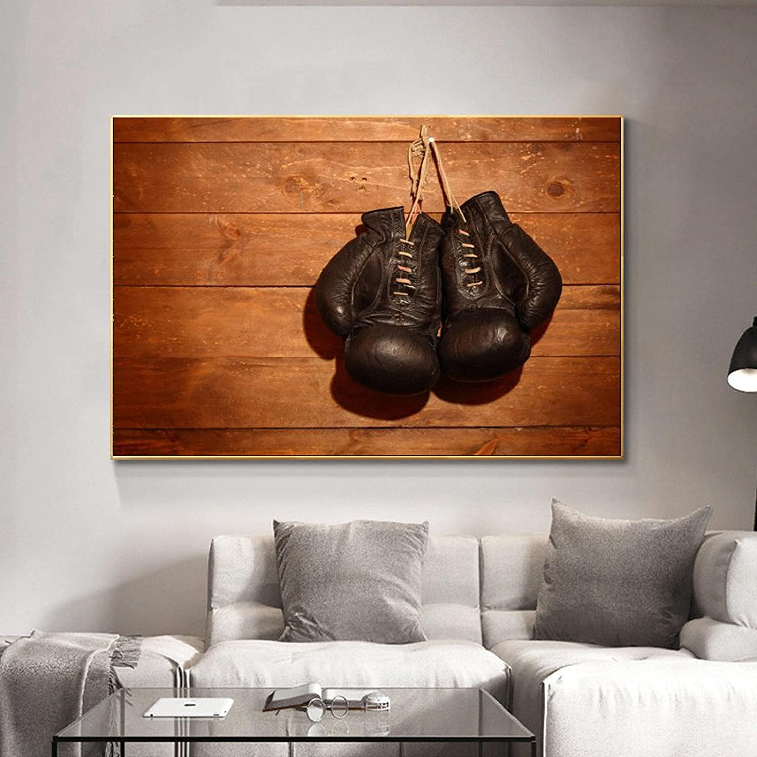 Canvas Wall Art Picture Black Gloves HD Boxing Abstract 1 year warranty Painting Japan's largest assortment