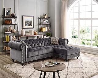valeria fabric sectional living room set