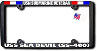 USN Submarine Veteran USS SEA DEVIL (SS-400) License Frame W/RIBBONS