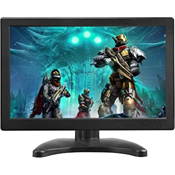 TOGUARD Portable Monitor 12 Inch TFT LCD HD 1366x768 Color Computer Monitor Display Screen with HDMI VGA MIC Port for PC Raspberry Pi Use Built-in Speaker 160° Wide Viewing Angle