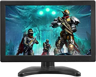 TOGUARD Portable Monitor 12 Inch TFT LCD HD 1366x768 Color Computer Display Screen with HDMI VGA MIC Port for CCTV Camera PC Raspberry Pi Use Built-in Speaker 160° Wide Viewing Angle