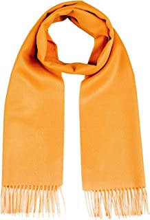 Luxury 100% Pure Baby Alpaca Wool Scarf for Men & Women - A Great Gift Idea in Many Colors (Turmeric)