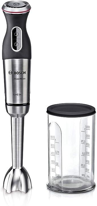 Frullatore a mano bosch elettrodomestici maxomixx con 1 accessorio con cupola anti-aspirazione 1000 w MS8CM6110