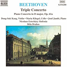 Beethoven: Triple Concerto, Op. 56 / Piano Concerto In D Major, Op. 61a