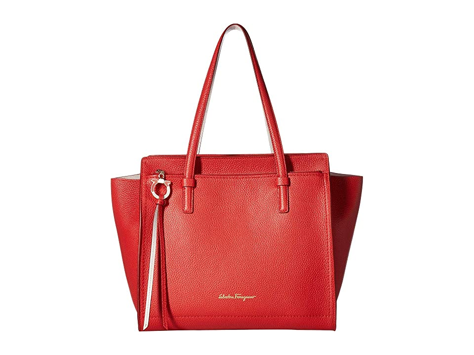 Salvatore Ferragamo 21F216 Amy (Flame Red Jasmine Flower) Handbags 15c2293dab88c