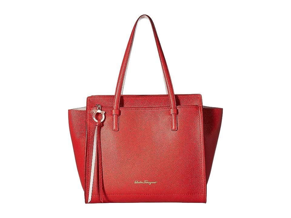 Salvatore Ferragamo 21F216 Amy (Flame Red Jasmine Flower) Handbags 6ee915066471d