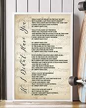 Mattata Decor Gift - If I Didn't Have You Song Lyrics Sheet Music Portrait Poster Print (16