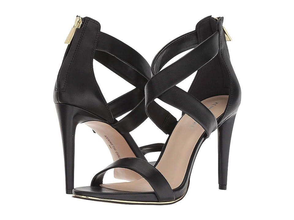 Kenneth Cole New York Brooke Cross Sandal (Black Leather) Women