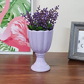 Art Street Artificial Flowers/Plants/Purple Lavender Flower in Ceramic Pot/Planter for Home, Garden Decor or Decoration Gi...