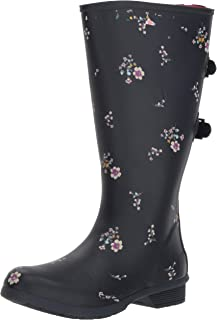 Chooka Women's Wide Calf Memory Foam Rain Boot, Navy, 6 M US