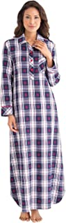 Women's Flannel Nightgown Plaid - Cotton Flannel Nightgown Womens