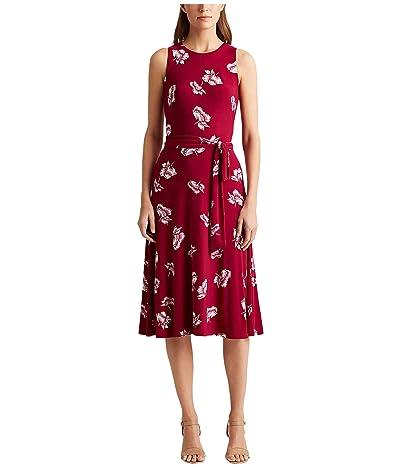 LAUREN Ralph Lauren Felia Dress (Very Berry/Colonial Cream) Women