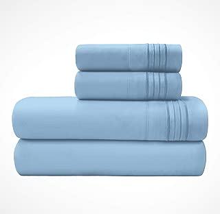 Briarwood Home Bed Sheet Set – Super Soft Brushed Microfiber 1999 Series Collection Premium Deep Pocket Bedding – Wrinkle & Fade Resistant – 3 Piece Set (Twin/Light Blue)