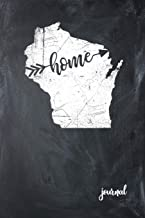 Home Journal: State of Wisconsin Gypsy Arrow Home Blank Diary 120 Paged College Lined 6x9 RV Travel Journal