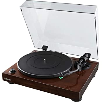 Fluance RT81 Elite High Fidelity Vinyl Turntable Record Player with Audio Technica AT95E Cartridge, Belt Drive, Built-in Preamp, Adjustable Counterweight, Solid Wood Plinth - Walnut