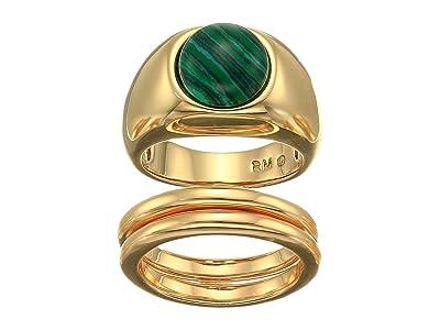 Rebecca Minkoff Chubby Stone Ring Set (Gold) Ring