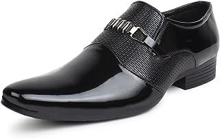 BUWCH Men's Black Formal Shoes- 9 UK (43 1/3 EU) (RKF_47_BLK9)