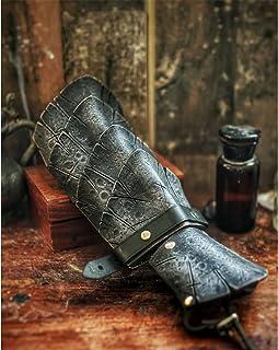 XDXDO Gauntlets médiévaux Garde-Bras, brassards en Caoutchouc Vintage réglables, Accessoires de scène Cosplay, Halloween D...