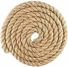 """1-1/4"""" Diameter Tan Natuurlijke Hennepvezel Manila Rope - Verkrijgbaar in lengtes van 10, 25, 50, 100 voet"""