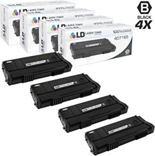 LD Compatible Toner Cartridge Replacement for Ricoh 407165 SP 100LA (Black, 4-Pack)
