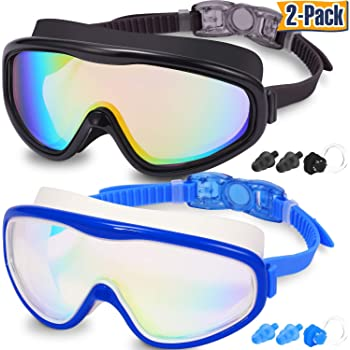 361Swimming Goggles No Leaking Anti Fog UV Protection Adult Men Women Kid Wide