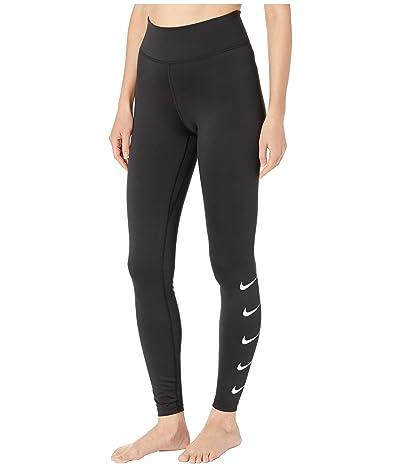 Nike Swoosh Run Tights (Black/White) Women