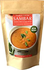 Inner Flame Organic Instant Sambar Powder - Sambar Mix- Red Lentil Soup Authentic South Indian Style - Gluten Free - Vegan- NO CHEMICALS - NO PRESERVATIVES