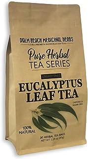 Eucalyptus Leaf Tea - Pure Herbal Tea Series by Palm Beach Medicinal Herbs (30 Tea Bags) 100% Natural