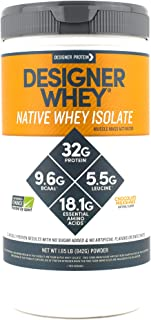 Designer Whey Native Whey Isolate, Chocolate Milkshake, 1.85 Pound, Protein Powder