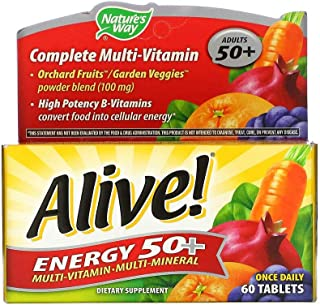 Natures Way Alive Energy 50+ Multi Vitamin Multi Mineral Adults 50-60 Tablets