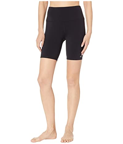 ALO High-Waisted Biker Shorts (Black) Women