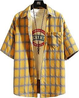 1c62c78f4fad5d RedSチェクシャツ メンズ 半袖 シャツ 大きいサイズ カジュアル ギンガムチェック shirt ネルシャツ
