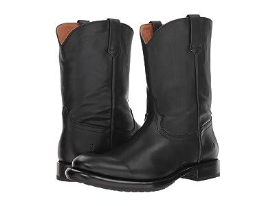 Frye Duke Roper (Black Tumbled Veg Tan) Cowboy Boots