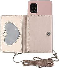 TYWZ Crossbody Case voor Samsung Galaxy A31, Schouderriem Portemonnee PU Lederen Flip Cover met Creditcard Houder Stand Fu...