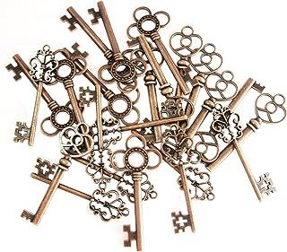 comprar comparacion Juego de 30 colgantes de estilo antiguo mixto con diseño de esqueleto y corazón (cobre)