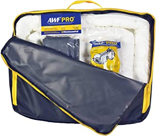 Portable Spill Kit Oil Only : 35 Piece Kit Containing 25 Sorbent Pads, 3 Sorbent Socks, 5 Disposal Bags, 1 Pair of Goggles & Chemical Gloves. Packed in a Heavy Duty, Reusable Nylon Bag