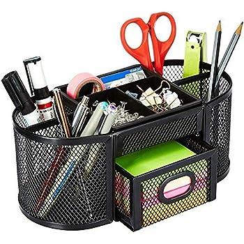 Amazon Basics Mesh Desk Organizer, Black