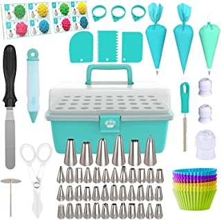 Cake Decorating Tools 115-Piece Piping Bags and Tips Set Cake Decorating Kit with 42 Piping Tips Cake Decorating Supplies ...