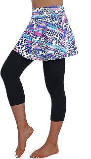 Skirted Legging for Women,Legging with Skorts& Women Tennis Skirts Pants