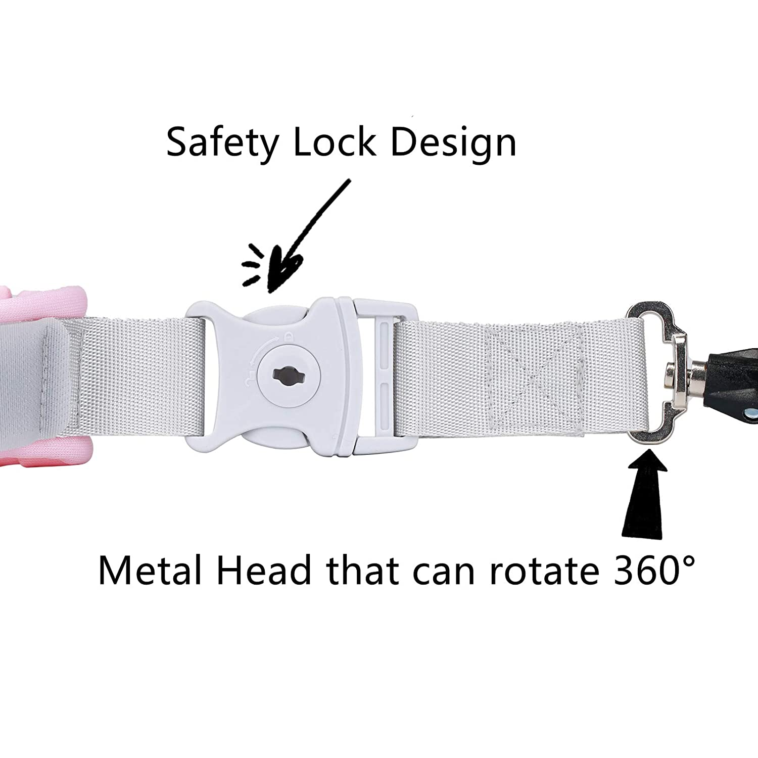 Cute Backpack Anti-Lost Rope,Toddler Safety Belt,Anti-Lost Rope Walking Safety Belt with Key Lock,Child Safety Belt,Baby Protection Belt,Length 8.2 Feet (Rabbit)