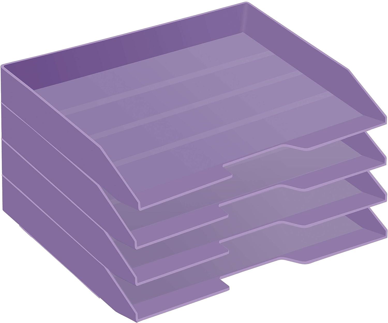 Ranking Ranking TOP18 TOP7 Acrimet Stackable Letter Tray 4 Tier Load Plastic F Desktop Side
