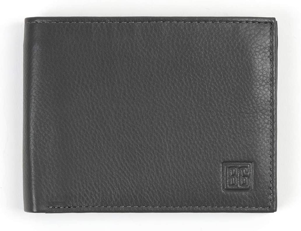 Boxed-Gifts: Men's RFID Protection Genuine Leather Bi-Fold Wallet - Sleek and Stylish Design