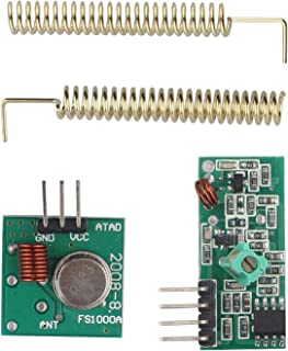 HALJIA 433 MHz RF módulo Receptor transmisor inalámbrico Enlace Kit Compatible con Arduino Raspberry Pi