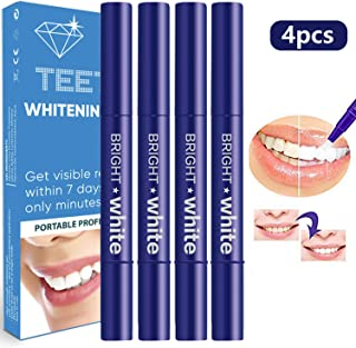Teeth Whitening Pen 4 Pack, Each 20 Times More Use, Anseya Whitening Kit, Natural Teeth Whitening Gel, 35 Percent Carbamide Peroxide Gel, Professionally Formulated Stain Remove Cleaning Tools