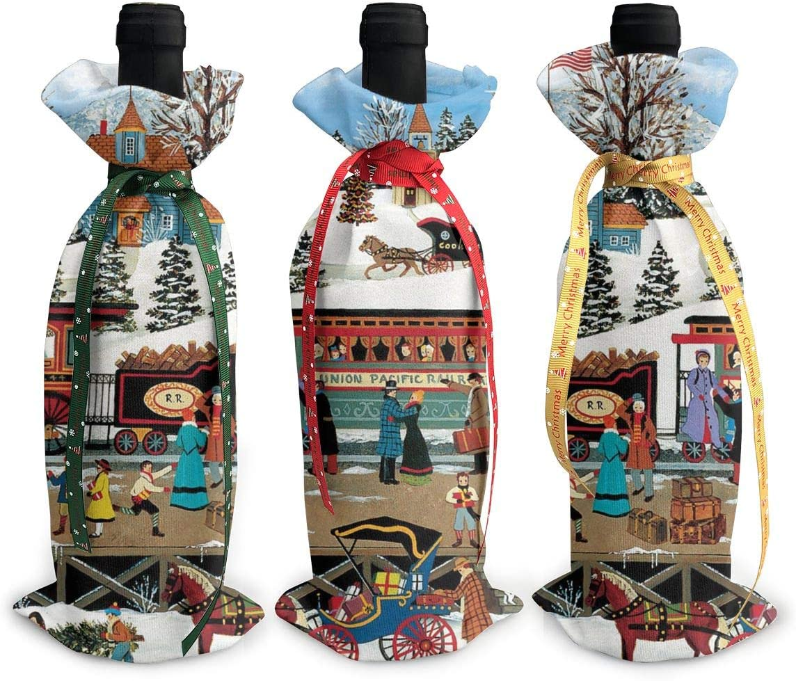NBteach Sales Vintage New products world's highest quality popular Christmas Train 3pcs Camper Xm Country