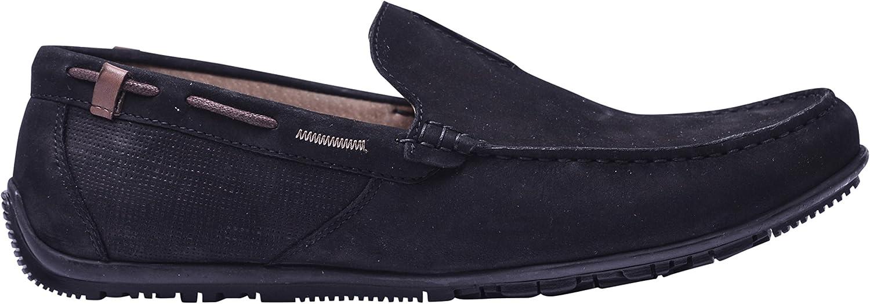 Vogar Men's Flat Leather Loafers Summer Slip On Comfort Light Sole shoes VG5055