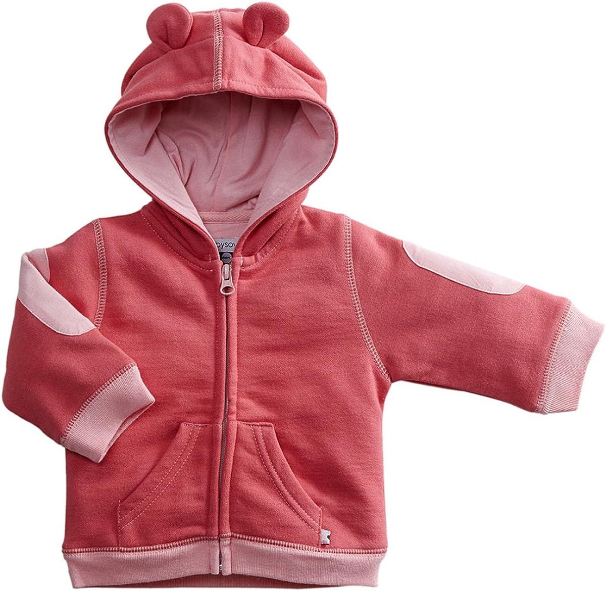 Babysoy Fleece Bunny Ear Zipper Hoodie Jacket Blossom 3T