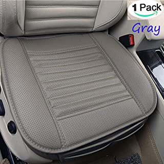 NetEra Car Seat Cushion Cover Pad Mat for Auto Car Office Chair Supplies, Four Seasons General Pu Leather Bamboo Charcoal Breathable Comfortable (1PCS, Grey)