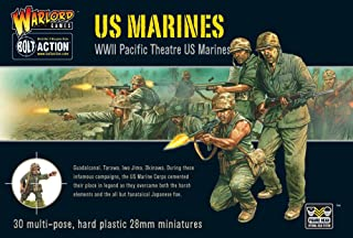 Blot Action US Marines Pacific Theater 1:56 WWII Military Wargaming Figures Plastic Model Kit