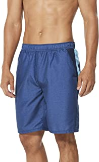 Speedo Men's Cutback Volley Shorts Workout & Swim Trunks, Black, Large